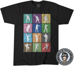Dance and Emotes Halftone Pop Art Tshirt Mens Unisex 0301