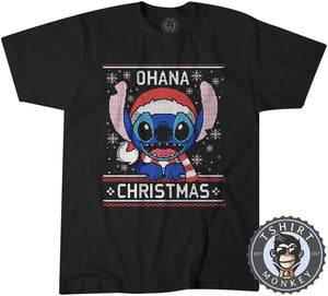 Ohana Ugly Sweater Christmas Tshirt Kids Youth Children 2859