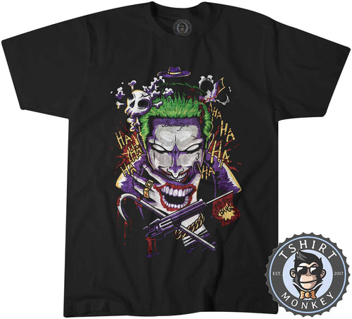 Joker Inspired Suicide Squad Movie Abstract Art Tshirt Shirt Kids Youth Children 2368
