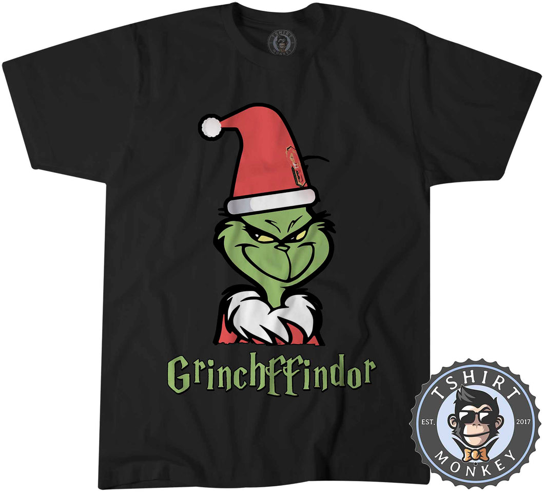 Grinchffindor | Harry Potter X Grinch Inspired Christmas Tshirt Mens Unisex 1628