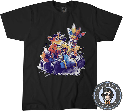 Crash Bandicoot Team Racing Game Inspired Watercolor Tshirt Mens Unisex 1442