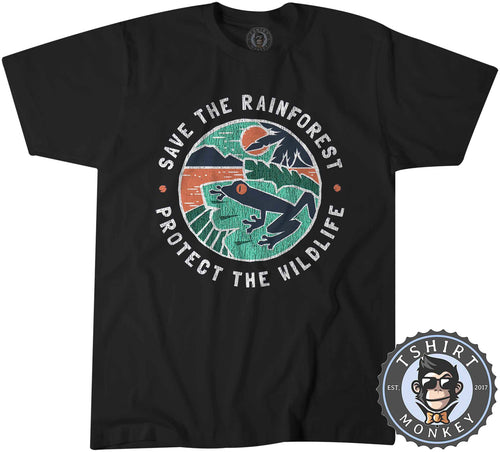 Save The Rainforest Protect The Wildlife Vintage Statement Tshirt Mens Unisex 1346