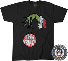 Load image into Gallery viewer, The Grinch Inspired Grunge Christmas Tshirt Kids Youth Children 1670