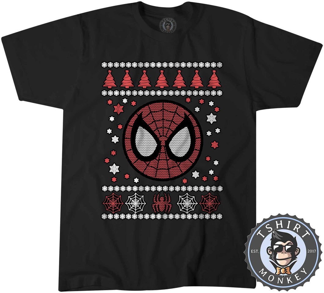 Spidey Badge Ugly Sweater Christmas Tshirt Kids Youth Children 1665