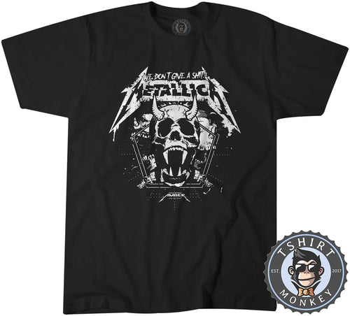 Vintage Metallica We Don't Give A Shit Tshirt Mens Unisex 0767