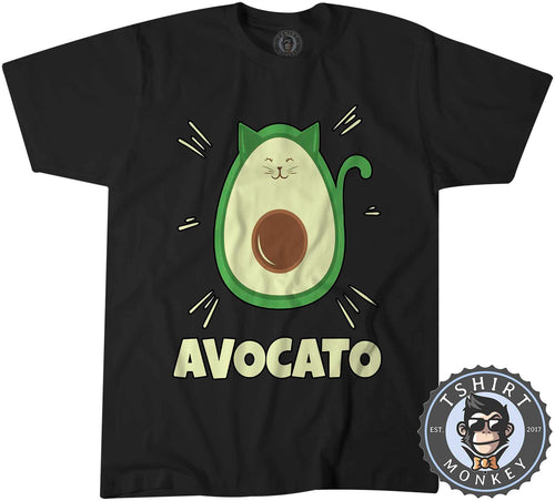Avocato - Cute Cat Avocado Meme Funny Cartoon Tshirt Shirt Mens Unisex 2592