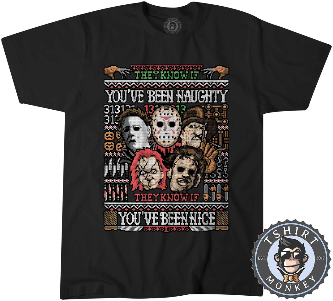 You have Been Naughty Ugly Sweater Tshirt Mens Unisex 3003