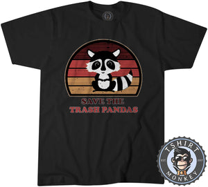 Save The Trash Panda Funny Skunk Meme Vintage Tshirt Kids Youth Children 1076