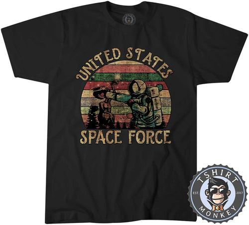 US Space Force Astronaut Funny Vintage Tshirt Shirt Kids Youth Children 1546