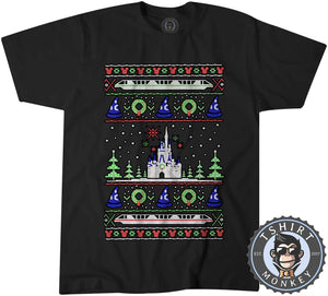 Magical Castle Ugly Sweater Christmas Tshirt Mens Unisex 2871