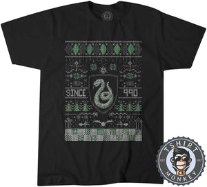 S;ytherin Since 990 Ugly Sweater Christmas Tshirt Mens Unisex 2913