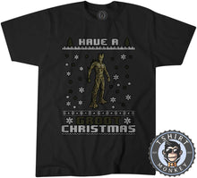 Load image into Gallery viewer, Have a Groot  Ugly Sweater Christmas Tshirt Kids Youth Children 1637