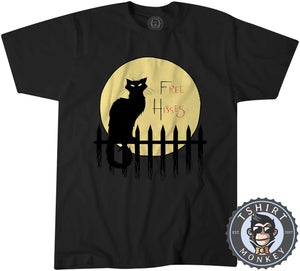 Free Hisses Funny Cat Silhouette Animal Print Tshirt Kids Youth Children 1181