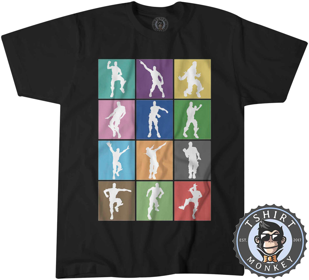 Dance and Emotes Pop Art Tshirt Kids Youth Children 0300