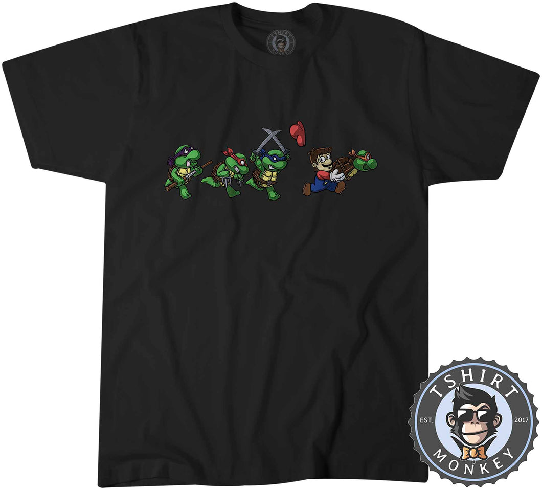 TMNT Super Mario Funny Mashup Cartoon Tshirt Kids Youth Children 1279