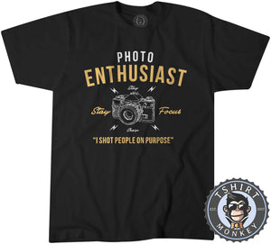 Stay Focus - Photo Enthusiast - Funny Photography Vintage Statement Tshirt Kids Youth Children 1248