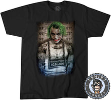 Load image into Gallery viewer, JOKER Prank Mugshot Tshirt Mens Unisex 0009