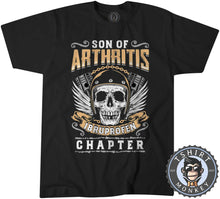 Load image into Gallery viewer, Skull With Wings Sons of Arthritis Inspired Tshirt Mens Unisex 0051