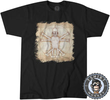Load image into Gallery viewer, Vitruvian Calculon Man Futurama Inspired Funny Meme Cartoon Tshirt Mens Unisex 1160