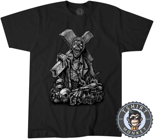 Holy Zombie Unique Dark Illustration Fantasy Tshirt Shirt Mens Unisex 2256