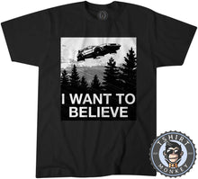 Load image into Gallery viewer, I Want To Believe - De Lorean Movie Inspired Vintage Statement Tshirt Kids Youth Children 1097