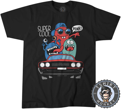 Super Cool Yeah - Road Trip Cartoon Summer Tshirt Shirt Mens Unisex 2292