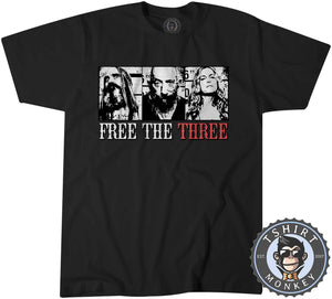Free The Three - Rob Zombie Three From Hell Music Inspired Vintage Tshirt Kids Youth Children 1359