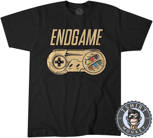Endgame - Classic Game Controller Inspired Gamer Tshirt Kids Youth Children 1439
