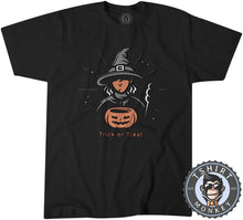 Load image into Gallery viewer, Trick or Treat Witch Cool Graphic Cartoon Halloween Tshirt Mens Unisex 1152
