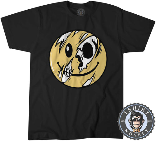Shedding Smiley Emoticon Skull Halloween Tshirt Shirt Mens Unisex 2468