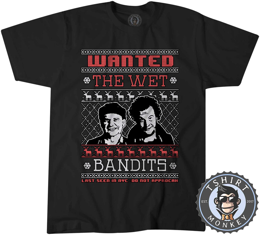 Wet Bandits Ugly Sweater Christmas Tshirt Kids Youth Children 1677