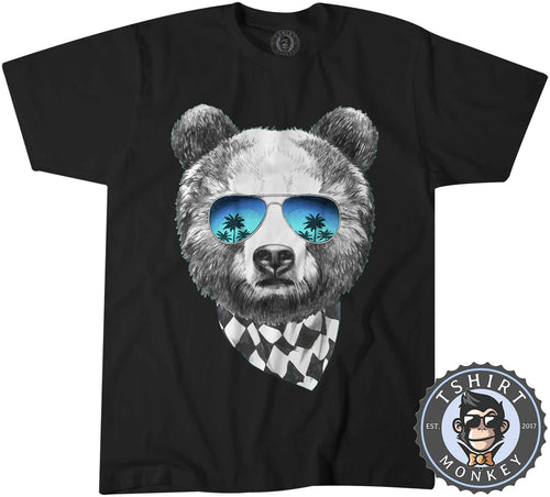 Summer Bear Animal Inspired Graphic Tshirt Shirt Mens Unisex 1961