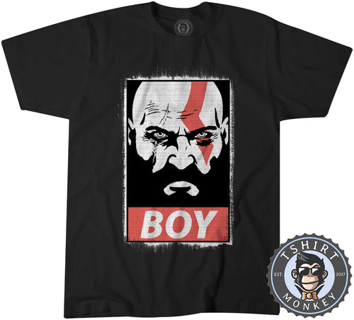 Boy - God of War Inspired Kratos Vintage Distressed Graphic Gaming Tshirt Mens Unisex 1321