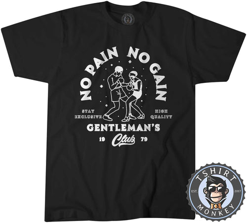 Gentleman's Club No Pain No Gain - Boxing Sports Inspired Vintage Tshirt Kids Youth Children 1171