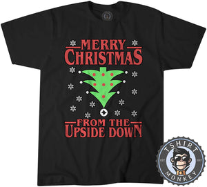 Upside Down Christmas Tshirt Kids Youth Children 1668