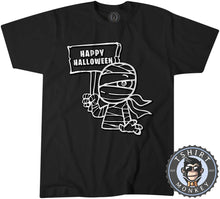 Load image into Gallery viewer, Happy Halloween V1 Mummy Inspired Cartoon Tshirt Kids Youth Children 1158
