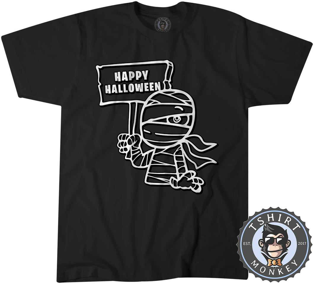 Happy Halloween V1 Mummy Inspired Cartoon Tshirt Kids Youth Children 1158