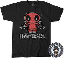 Load image into Gallery viewer, Hello 4th Wall Cute Deadpool Inspired Cartoon Tshirt Mens Unisex 1196
