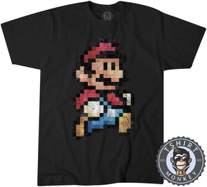 Super Mario Bros Inspired Vintage Pixel Tshirt Kids Youth Children 2027 - TeeTiger
