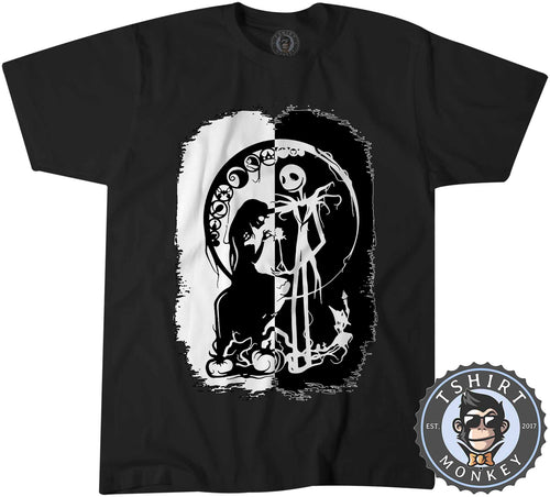 Black And White Nightmare Before Christmas Halloween Tshirt Mens Unisex 1059