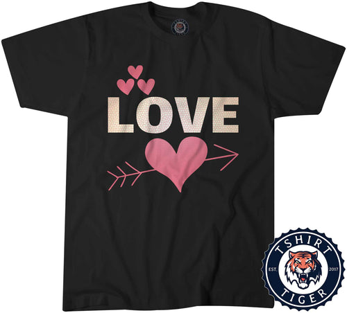 Love - Graphic Illustration Cute Valentines Day Tshirt Kids Youth Children 3252