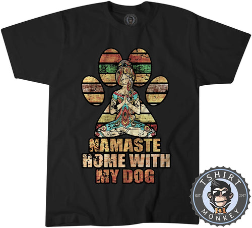 Namaste Home With My Dog Vintage Tshirt Shirt Kids Youth Children 1540