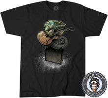 Load image into Gallery viewer, Chameleon Plays the Guitar Tshirt Kids Youth Children 0069