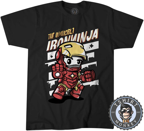 The Invincible Iron Ninja Cute Meme Cartoon Tshirt Shirt Kids Youth Children 2370