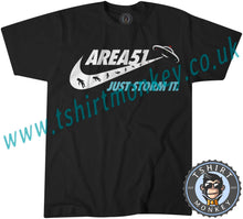 Load image into Gallery viewer, Area 51 Just Storm It Meme T-Shirt Unisex Mens Kids Ladies - TeeTiger