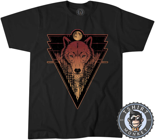 Fantasy Lone Wolf Unique Animal Print Graphic Tshirt Mens Unisex 1471