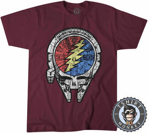 Dead Skull Face Millennium Falcon Movie Inspired Graphic Tshirt Mens Unisex 1155