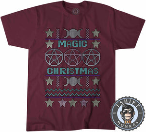 Magical Christmas Ugly Sweater Christmas Tshirt Mens Unisex 2878