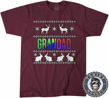 Load image into Gallery viewer, Grandad Rainbow Ugly Sweater Chistmas Tshirt Mens Unisex 1632