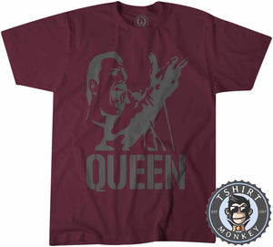 Freddie Mercury Stencil Illustration Tshirt Mens Unisex 0311